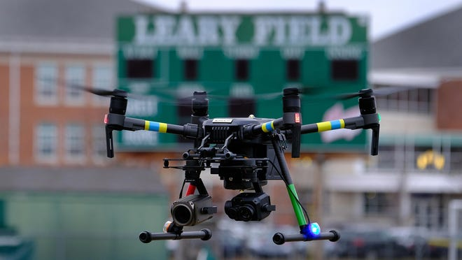 The Portsmouth police's use of drone was questioned during a city Police Commission meeting, when Chief Robert Merner offered an explanation of the drone use during a recent protest.