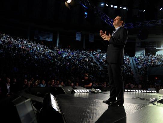 Sen. Ted Cruz, R-Texas, announces his presidential