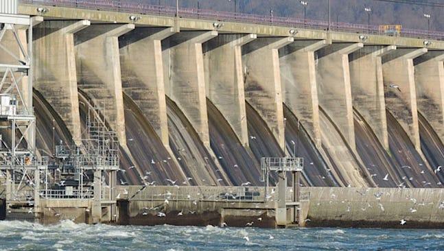 The Conowingo dam in Maryland.
