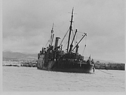 The USS Vestal was bombed twice by Japanese bombers