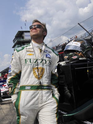 Ed Carpenter checks the clouds prior to qualifying for the Indianapolis 500 at the Indianapolis Motor Speedway, Saturday, May 21st, 2016.