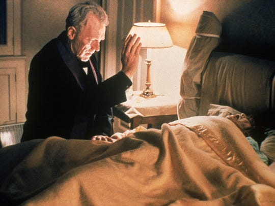 Father Merrin (Max von Sydow, left) attempts to rid