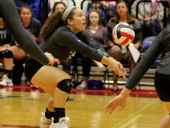 Windthorst's Abby Brown keeps the ball in play in the