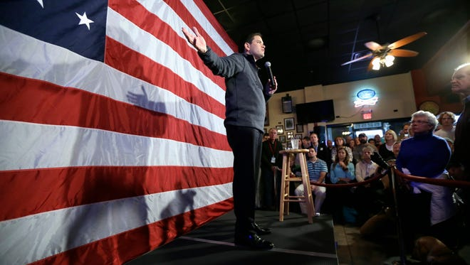 Republican presidential candidate, Sen. Marco Rubio, R-Fla., speaks during a meet and greet with local residents.