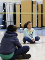 During gym class at Baird Elementary School, lunch
