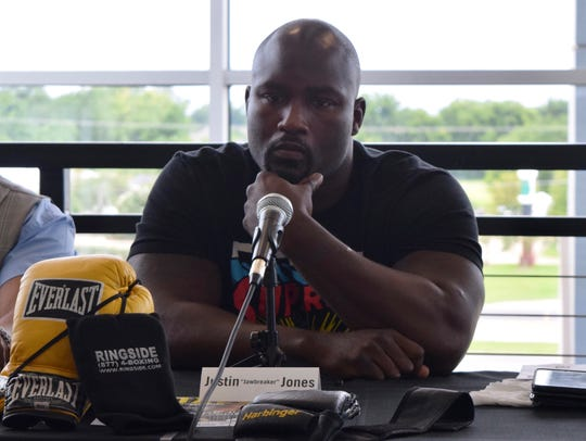 "Heavyweight boxer Justin ""Jawbreaker"" Jones will fight"
