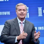 Sen. Lindsey Graham speaks onstage during 2016 Milken Institute Global Conference at The Beverly Hilton on May 03, 2016 in Beverly Hills, California.