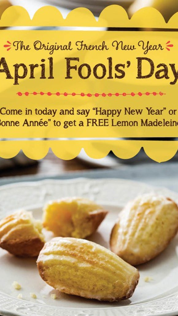"""Visit la Madeleine and say """"Bonne Anne"""" or """"Happy New Year"""" to get a free lemon Madeleine cookie."""