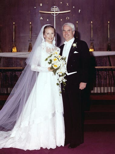 John and Cindy McCain on their wedding day in May 1980.