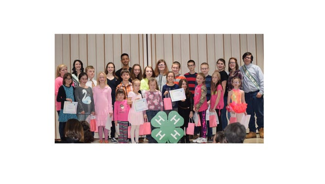 Members of Cumberland County 4-H took to the stage for a talent show on Jan. 24. Nina Callavini and Wade Espi, the 2017 4-H Ambassadors were the emcees for the evening. Nineteen acts performed. There were musicians, vocals, magic acts, gymnastics and a skit.