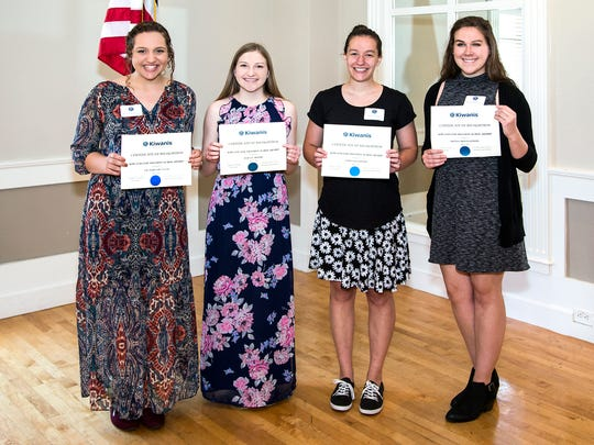 The Kiwanis Club of Abilene Foundation recently presented $1,000 scholarships to Victoria Dunnam, Hailey Moore, Emma Dantzler and Olivia Montgomery.
