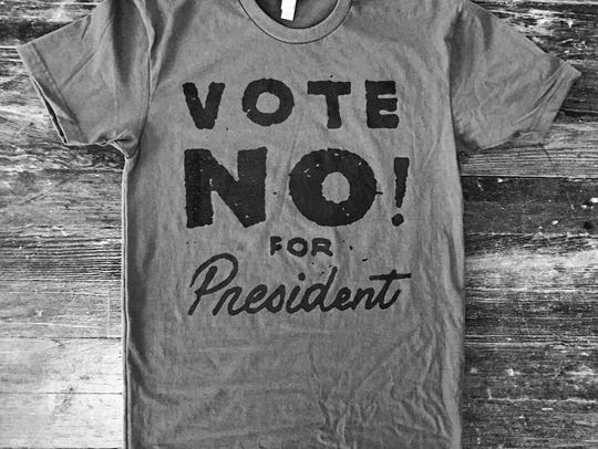 Vote No for President shirt by Cicada Grove.