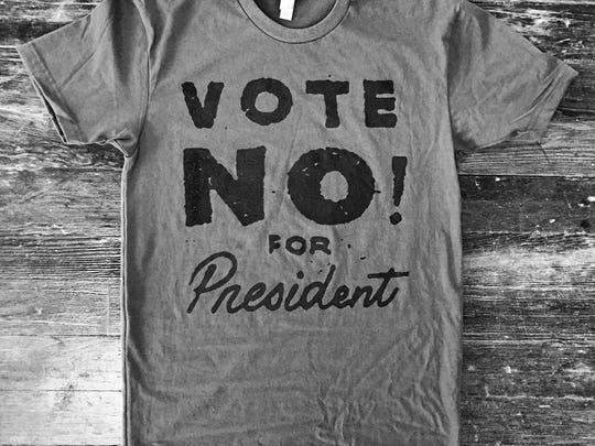 Vote No for President shirt by Cicada Grove.