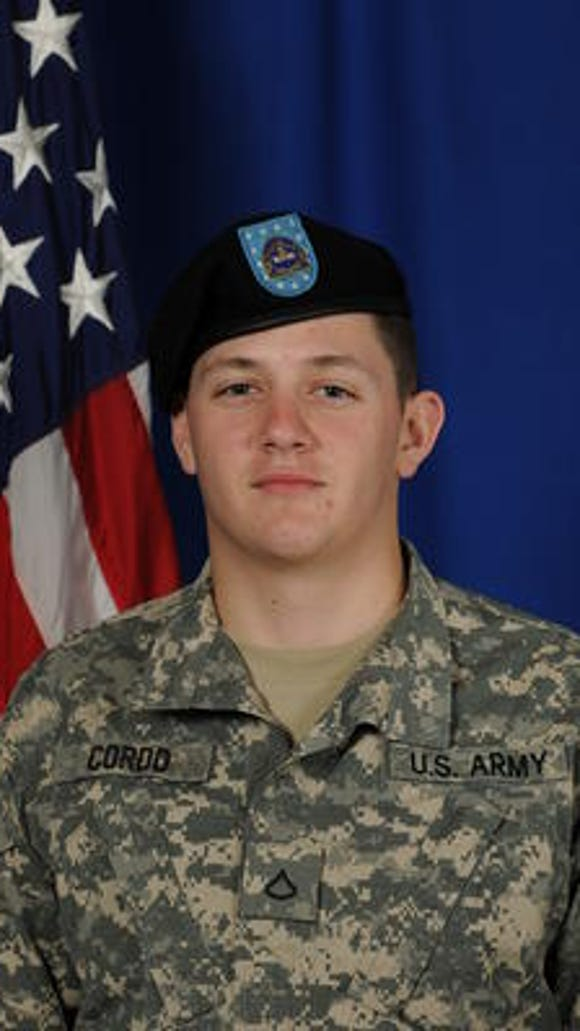 The deceased Pfc. Douglas Cordo