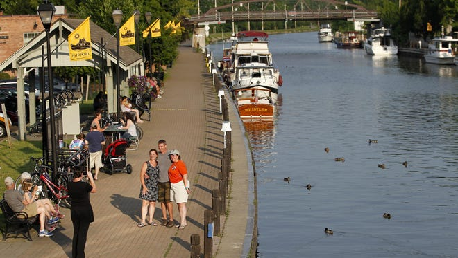 Photo of the Erie Canal in Fairport, taken on July 13.