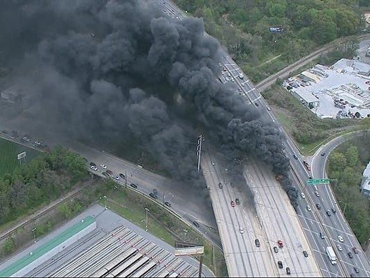 I 85 Collapse Atlanta Map.Atlanta S I 85 Bridge Collapse And Traffic Complicate Braves