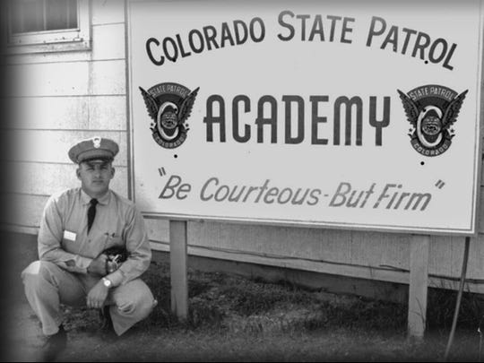 Thomas Carpenter stands outside a CSP academy after training with the patrol.