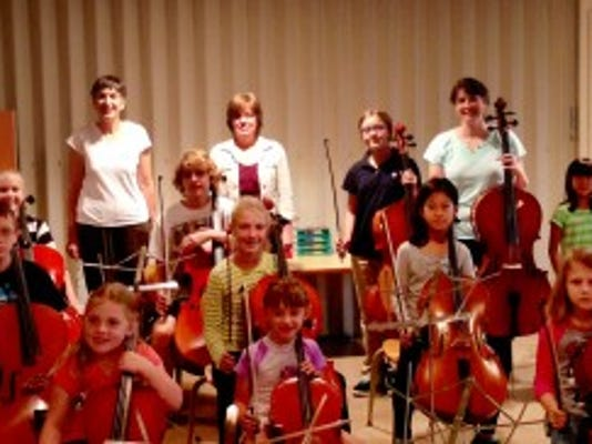 Cellists from the Harrisburg Area Chapter of the Central   Pennsylvania Suzuki Association, under the direction of Barbara Lewis and Joanna Roberts, will perform a free concert Oct. 13 at Martin Library. (SUBMITTED)