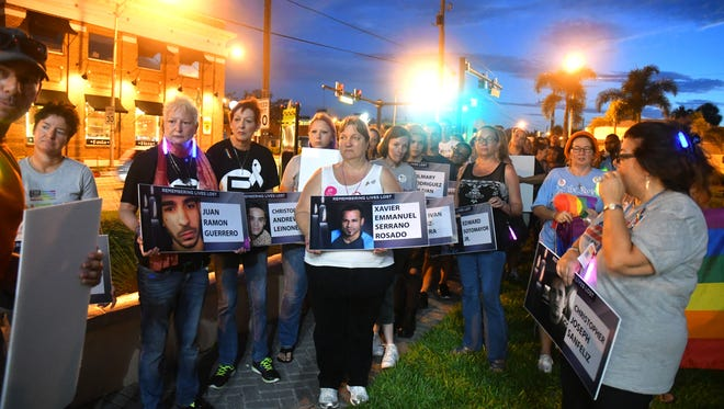 A vigil was held Saturday night for the 49 people who died in the Pulse shooting one year ago. The event, United We Stand for Love, was presented by Speak Out Brevard and Space Coast Pride.