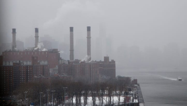 A view of a power plant in New York City. The Trump
