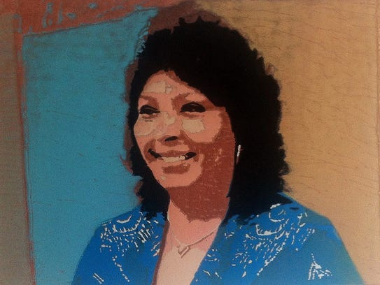 """A portrait of community activist Betty Aragon-Mitotes will be part of the art display """"Her Legacy: Women of Fort Collins."""""""