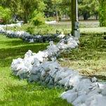 VIDEO- National Guard Stops Flood Waters in Gueydan