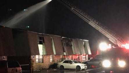 A fire at a Smyrna apartment complex displaced 16 families on Oct. 26, 2018.