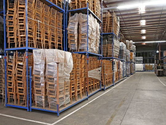 The event management company has a 250,000 square foot warehouse.