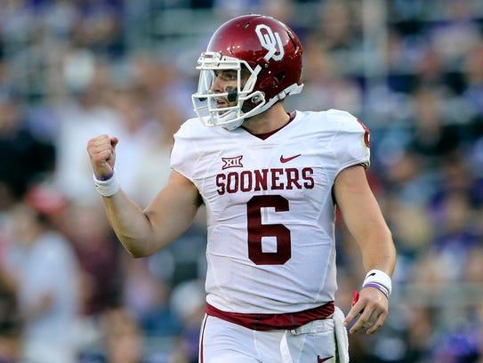 Oklahoma Sooners quarterback Baker Mayfield will be