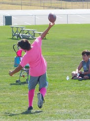 Ready to release the football for a pass Sunday at