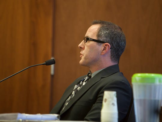 Psychologist Tim Kockler testifies during the preliminary