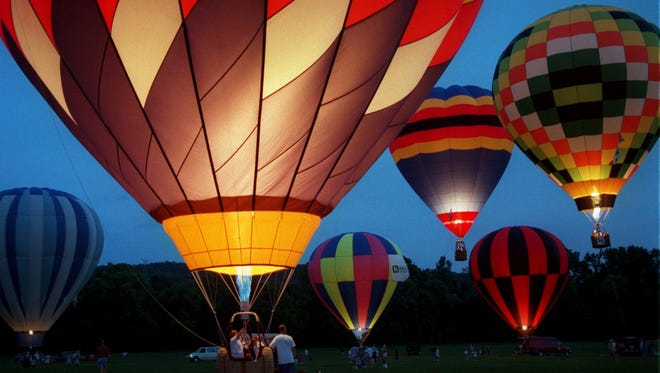 The Music City Hot Air Balloon Festival will glow at Percy Warner Park Sunday.