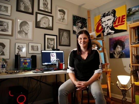 Artist Kollet Probst is holding a sale on commissioned ink portraits.