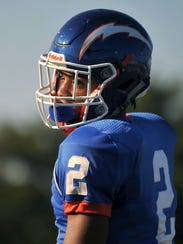 Millville's Marcial Ramos #2 Friday, Sep. 23, 2016