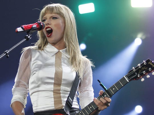 Taylor Swift played to a sold-out Wells Fargo Arena