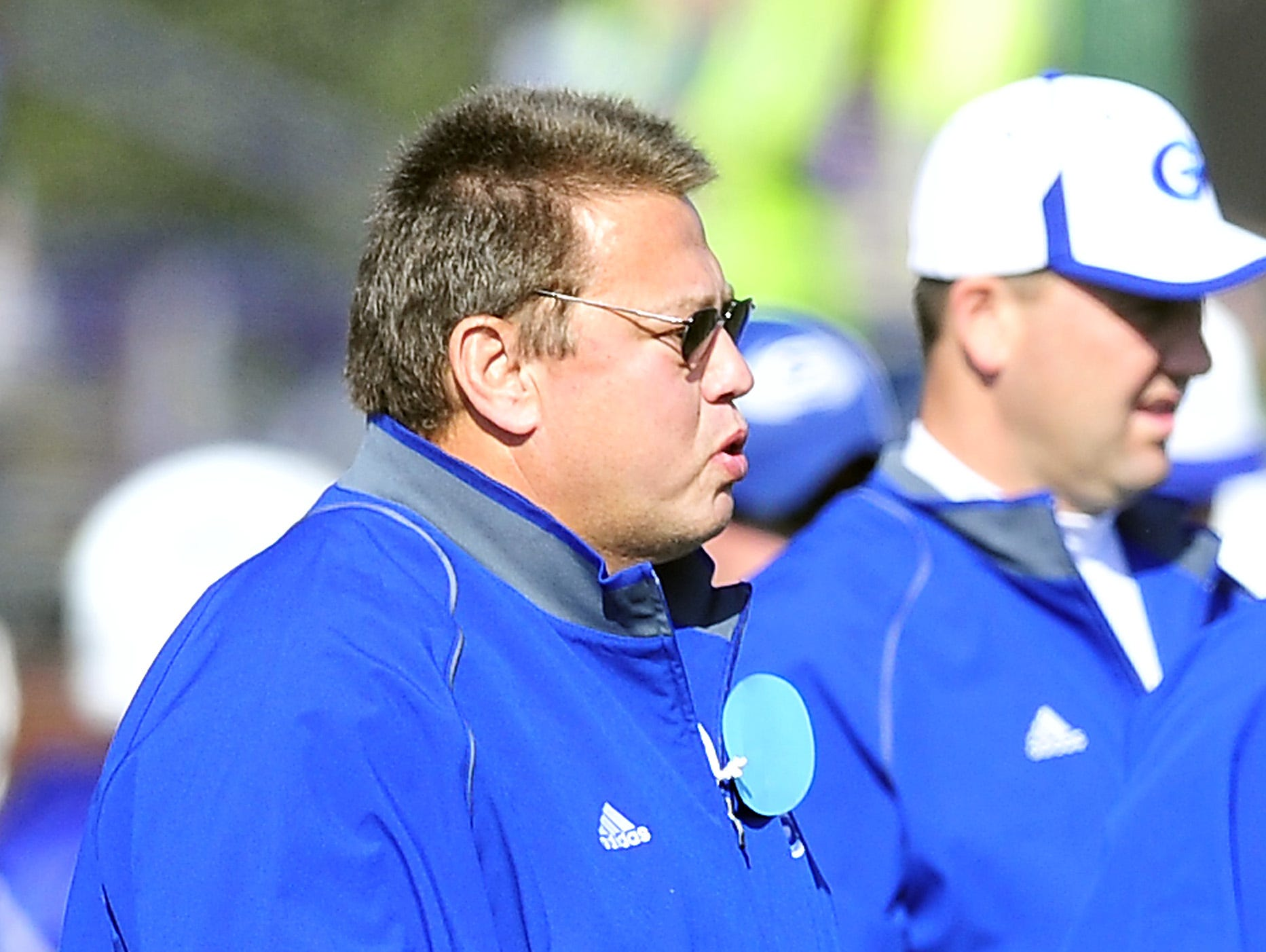 Gordonsville coach Ron Marshall coaches during the first half of the 2012 Class 1A state championship game, a 21-20 win over Huntingdon.