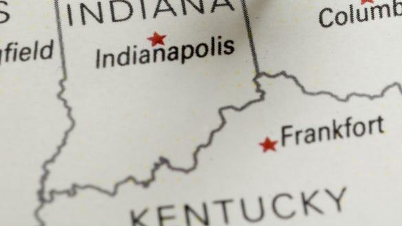 KentuckyIndianaMap