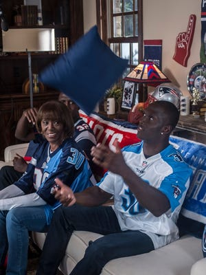 Devin McCourty, mother Phyllis and twin brother Jason act in a promotional video on Sunday, May 3, 2015, in Nashville.