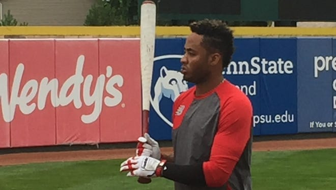 Tigers prospect Dawel Lugo took batting practice in Erie, Pa., on July 24, 2017. Lugo was acquired by the Tigers as the key piece in a trade that sent J.D. Martinez to the Diamondbacks.