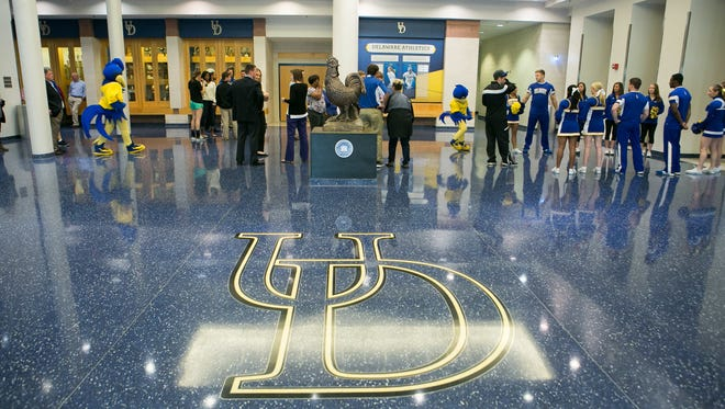 The University of Delaware athletic facilities are shown on Feb. 15. A judge has ruled the school is not legally required to pay the prevailing wage to workers on construction projects.