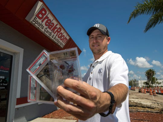 Steve Palmer, is the owner of BreakRoom Sports Cards