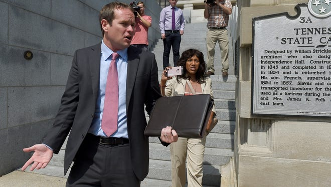 Jeremy Durham, expelled from the Tennessee General Assembly last year, was issued a record fine Wednesday after a state watchdog determined he committed hundreds of campaign finance law violations.