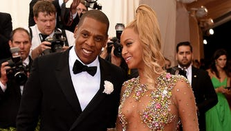 "Jay Z and Beyonce attend the ""China: Through The Looking Glass"" Costume Institute Benefit Gala at the Metropolitan Museum of Art on May 4, 2015, in New York."