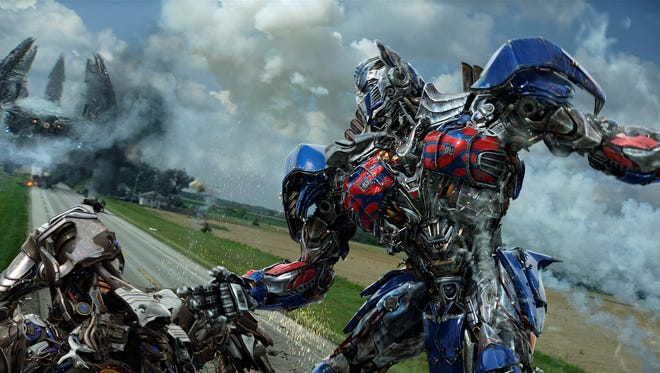 "Optimus Prime in a scene from ""Transformers: Age of Extinction."""