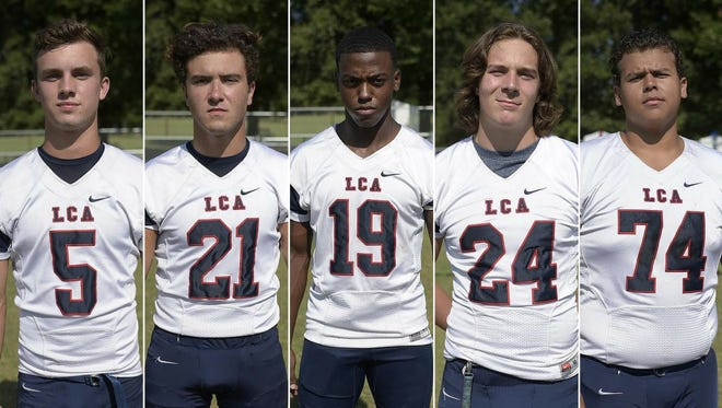 Lafayette Christian Academy Players to Watch Regan Miller, Colton Williams, Treven Kately, Zack Hargrave, and Eddy Souze.