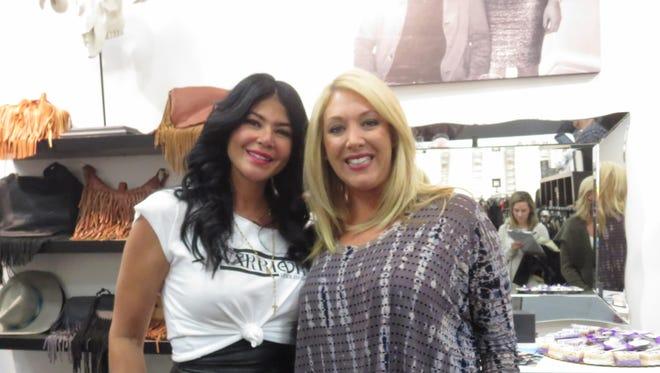 Boutique owner Alicia DiMichele and Janene Fiore.