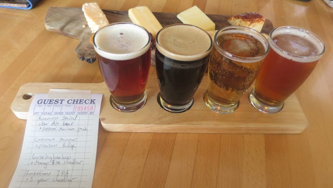 Beer and cheese tasting flights are picked daily by knowledgeable staffers.