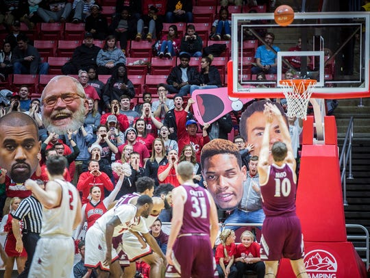 Ball State fans try to distract Eastern Kentucky during
