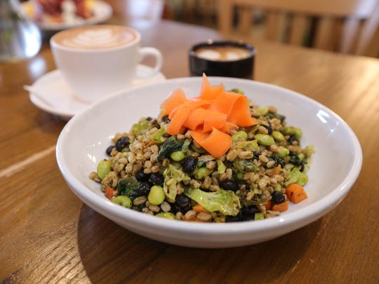 Black Bean Veggie Salad at Dottie Audrey's Bakery & Kitchen in Tuxedo on Wednesday, April 4, 2018.