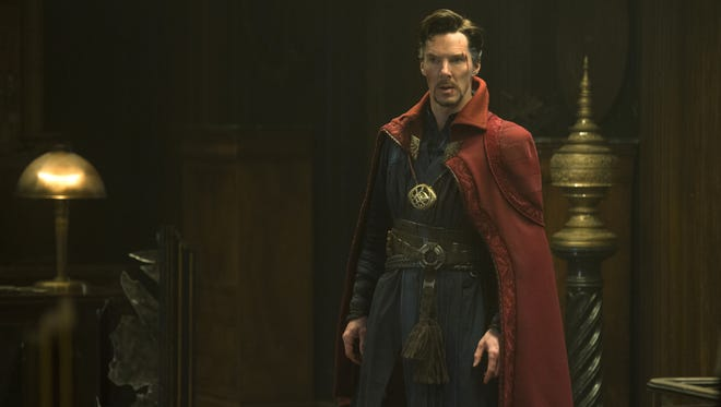 "Benedict Cumberbatch in a scene from Marvel's ""Doctor Strange."""